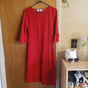 Dainty Jewell's red modest midi dress